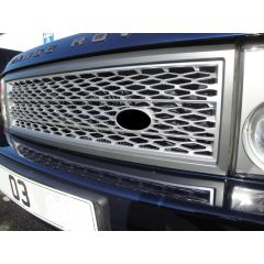 RRG336SG - Range Rover L322 Supercharged Mesh Style Square Grille - Grey / Silver - Genuine Colour Scheme