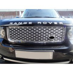 RRG830BSC - Autobiography Grille For Range Rover Vogue 2010 Onwards In Black Silver With Chrome Trim