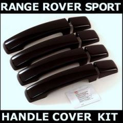 RRH527JVA - Door Handle Covers In Java Black (to fit Grey Painted Handles) - For Range Rover Sport, Discovery 3, 4 and Freelander 2