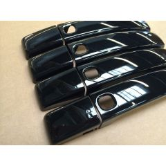 RRH386BLACK - Door Handle Covers In Gloss Black - With Button For Keyless Entry System on Range Rover Sport and Discovery 4