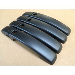 RRH386MAT - Door Handle Covers In Matt Black - With Button For Keyless Entry System on Range Rover Sport and Discovery 4