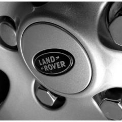 LR089429 - Supercharged Wheel Centre - Silver Sparkle / Black Badge - Land Rover / Range Rover