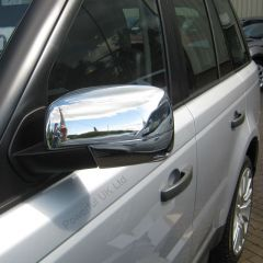 RRM125CH - Full Mirror Caps In Chrome (Pair) - For Late Range Rover Sport, Discovery 4 and Late Freelander 2