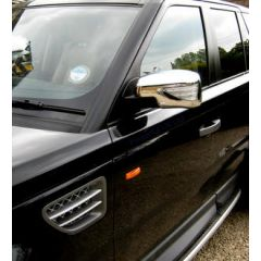 RRM743 - Full Mirror Covers In Chrome with LED Indicator and Welcome Lights - For Range Rover Sport, Freelander 2 and Discovery 3
