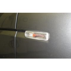 RRR568 - Crystal Clear Side Repeaters (Replace Amber Flashers) For Range Rover Sport, Discovery 3 & 4 and Freelander 2