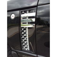 RRV010BSC - Range Rover 2012 AUTOBIOGRAPHY Side Vents - In Black, Silver And Chrome