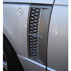 RRV058SG - Range Rover L322 Supercharged Side Vents - Genuine Colours - Silver/Grey