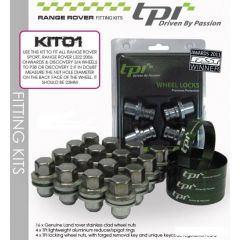 RRWK1 - Spigot rings and Wheel Nuts with Locking Nuts to Fit Sport/L322 Wheels to P38 or Discovery 2
