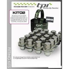 RRWK2 - Spigot rings and Wheel Nuts to Fit Sport/L322 Wheels to P38 or Discovery 2