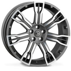 EVO-SAKER2-GMF - Hawke Saker II Alloy Wheel in Gunmetal with Polished Face for Range Rover Evoque