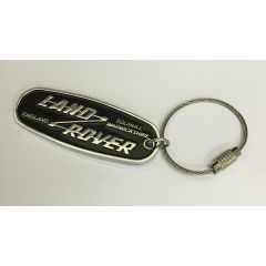 STC62071 - Genuine Land Rover Key Ring - Heritage Style Land Rover Oval - Heavy Duty Metal Key Ring