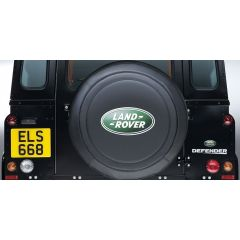 STC50069AA - Genuine Defender Wheel Cover - With Green Oval Logo - Fits 255 x 18 Tyres