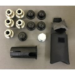 STC8843AA-BLACK - Black Defender Locking Nuts With Key For Alloy Wheels - Set Of 5 - Will Fit Both Defender and Discovery 1 - Come in Black Colour