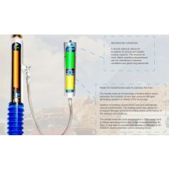 """TF401 - Terrafirma Front Remote Reservoir Shock Absorber - Plus 2"""" Lift - Serious Suspension - For Defender, Discovery 1 and Range Rover Classic"""