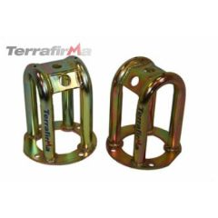 "TF503 - Tubular Front Shock Turrets - Lowered Height (Minus 2"") - For Defender, Discovery 1 and Range Rover Classic"