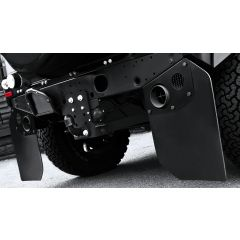 KD-MF - Khan Design - Defender Mudflaps - Attach Directly to Twin Crosshair Exhaust Shields