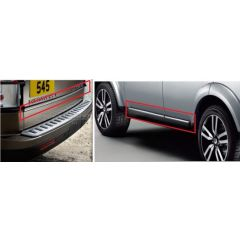 VPLAB0044 - Stainless Steel Trim Kit - For Side Doors and Tailgate Doors - Discovery 3 & 4 - Genuine Land Rover