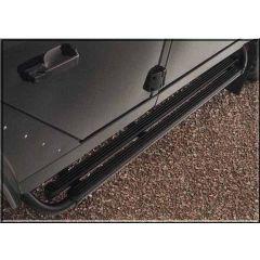VPLDP0068 - Black Dual Moulded Rubber Top Side Steps Defender 90 - OEM Equipment - Original (Image Shows Similar Pair Fitted to 90)