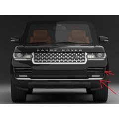 VPLGB0122 - Range Rover L405 Exterior Styling - Front Bumper Trim and Vents in Dark Atlas - Three Piece Kit