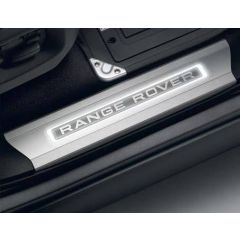 VPLGS0261 - Illuminated Sill Protectors Range Rover Vogue L405 Extended Wagon - Genuine Land Rover - Set of Four Tread Plates