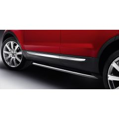 VPLVP0071 - Stainless Steel Satin Finish Side Protection Bars - Genuine Land Rover Style - For Range Rover Evoque
