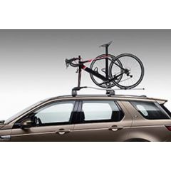 VPLWR0101 - Roof Mounted One Bike Carrier - Genuine Land Rover - Fork Mounted plus Wheel Carrier
