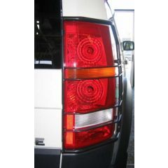 VUB502590 - Rear Lamp Guards In Aluminium - For Discovery 3