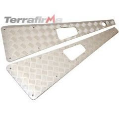 WTKIT01-NH/A - Defender Wing Top Chequer Plates in Satin / Silver Anodised (No Aerial)