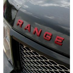 RRL506RED - Gloss Red Lettering - RANGE ROVER (For Bonnet or Tailgate)
