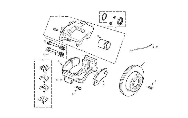 2000 land rover discovery brake replacement system diagram